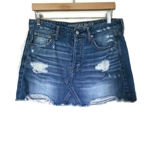 American Eagle distressed Skirt size 12